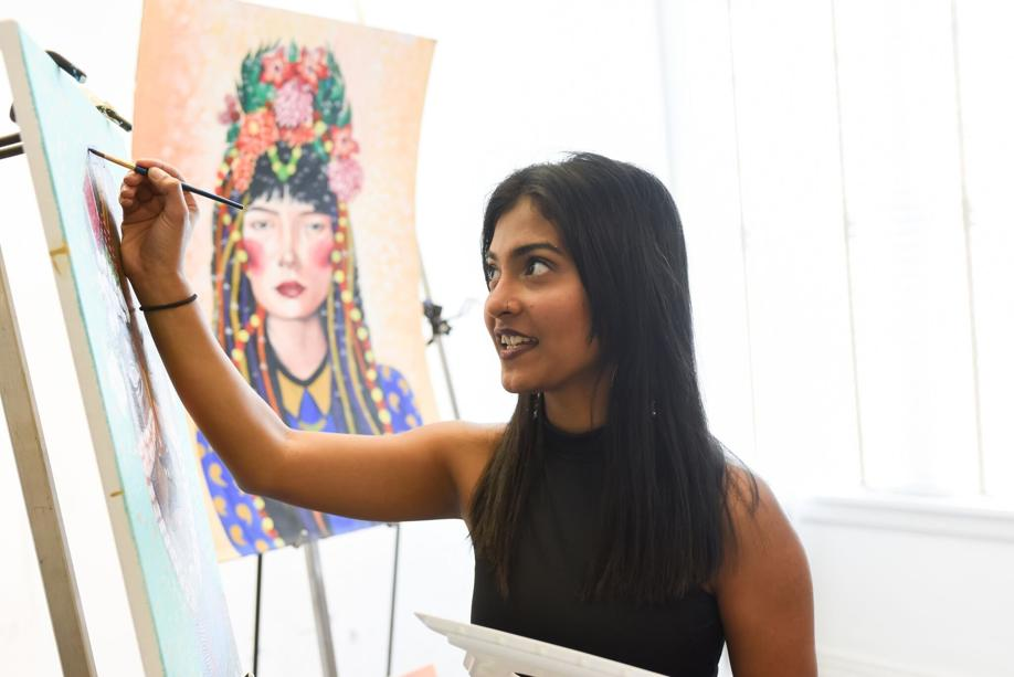 Tanvi Lonkar stands her ground and advocates women's rights through art